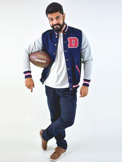 Direito - Jaqueta College Jeans