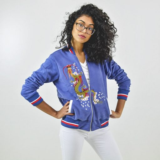 Jaqueta Bomber Azul