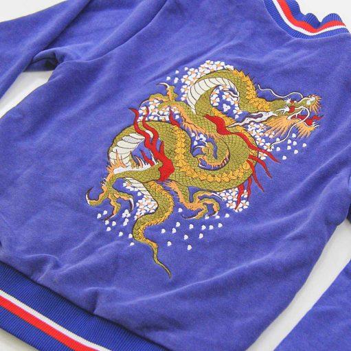 Jaqueta Bomber Azul de Dragão