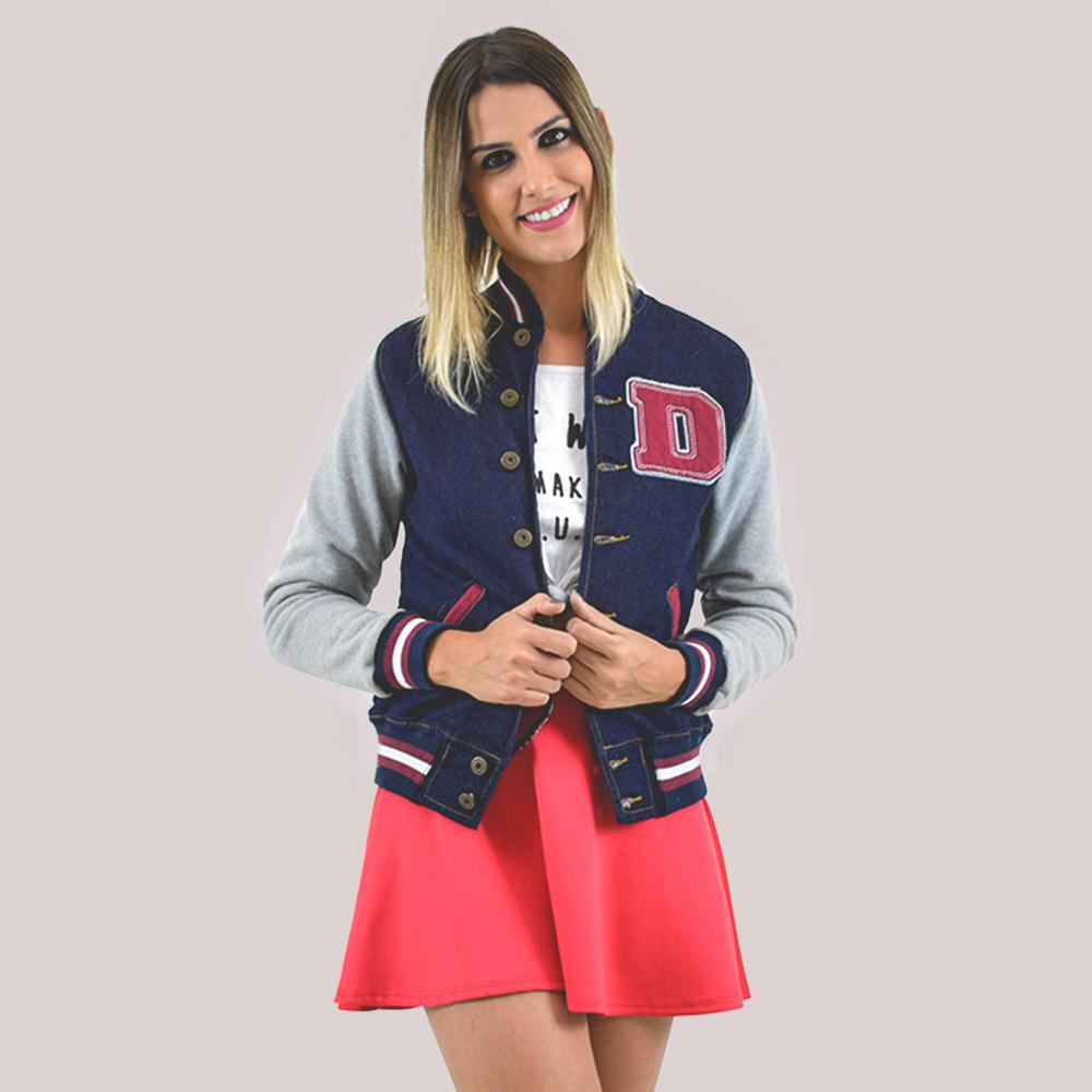 Jaqueta College Jeans Personalizada