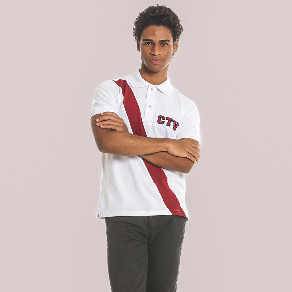 Camisa Polo com faixa Customizada
