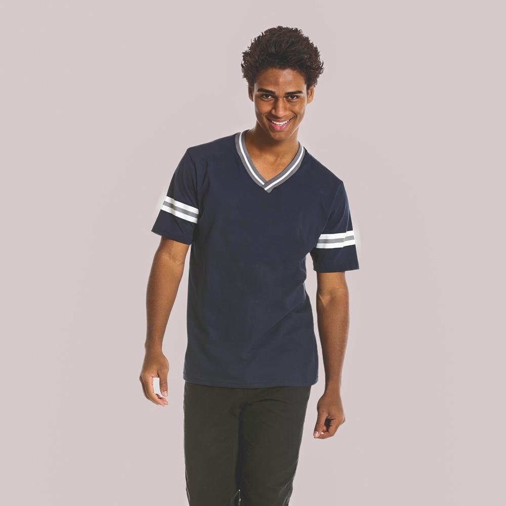 camiseta Gola Listrada