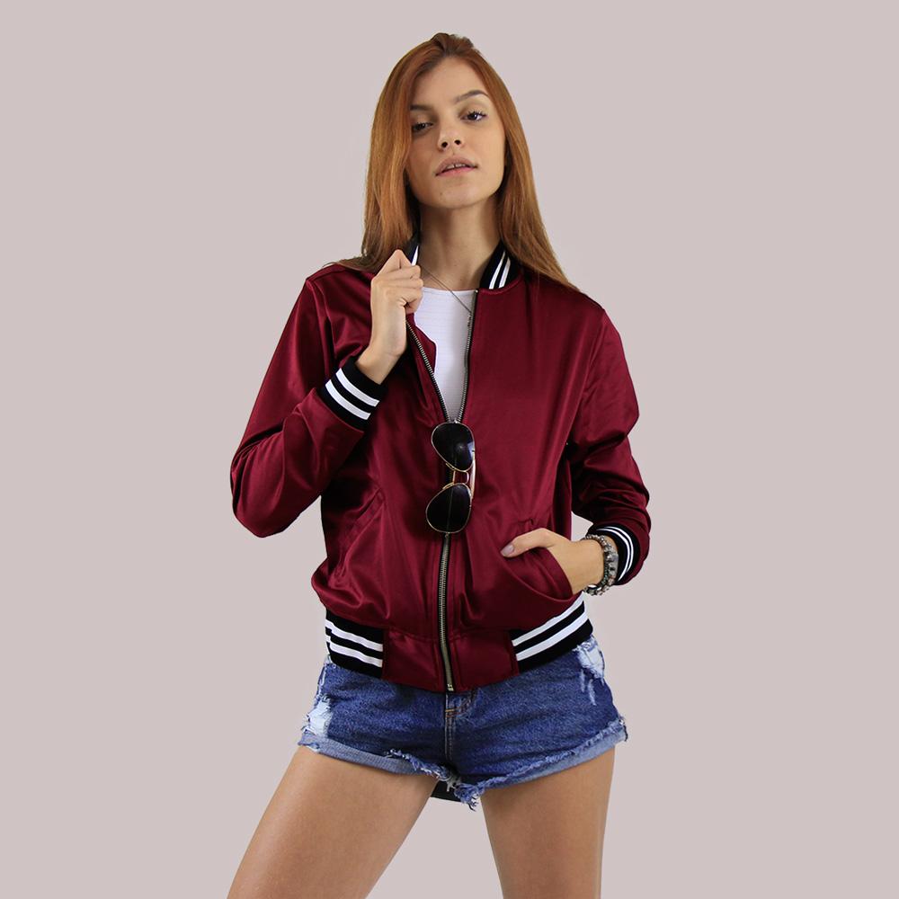 jaqueta acetinada viho