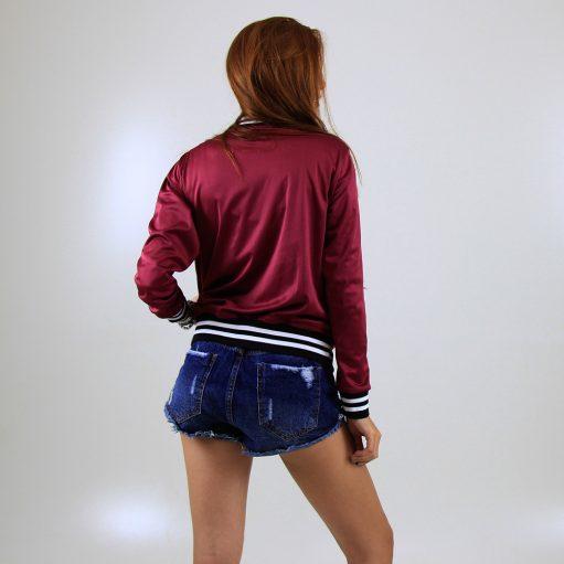 jaqueta esportiva modelo acetinado