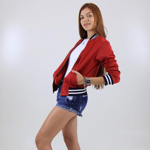 jaqueta esportes vermelha