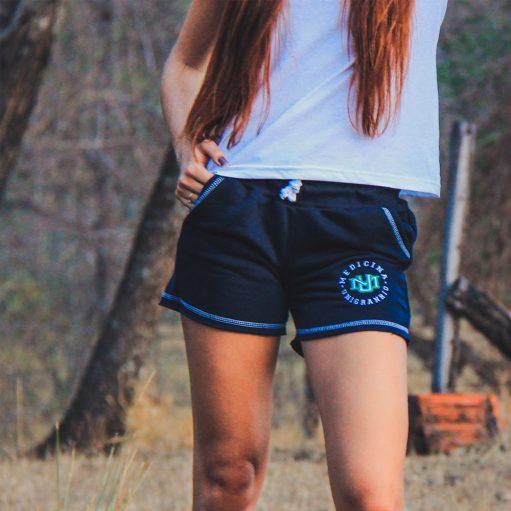 Short Azul Marinho de Moletinho