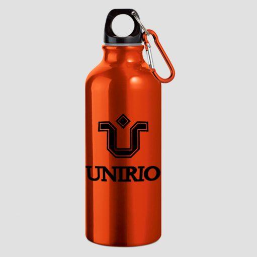 garrafa de água de alumínio laranja