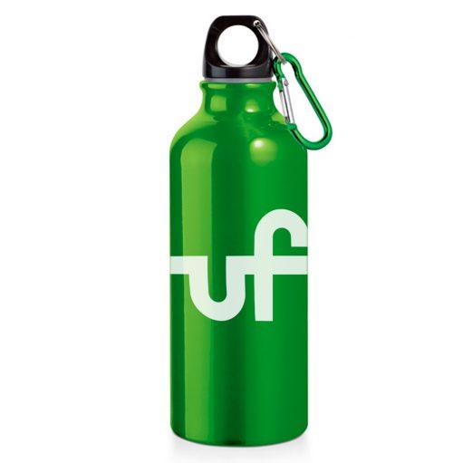 garrafa de água alumínio verde