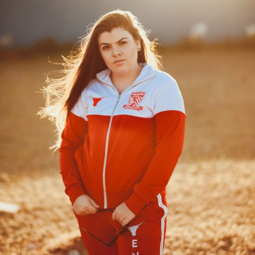 jaqueta de futebol personalizada vermelho e branco