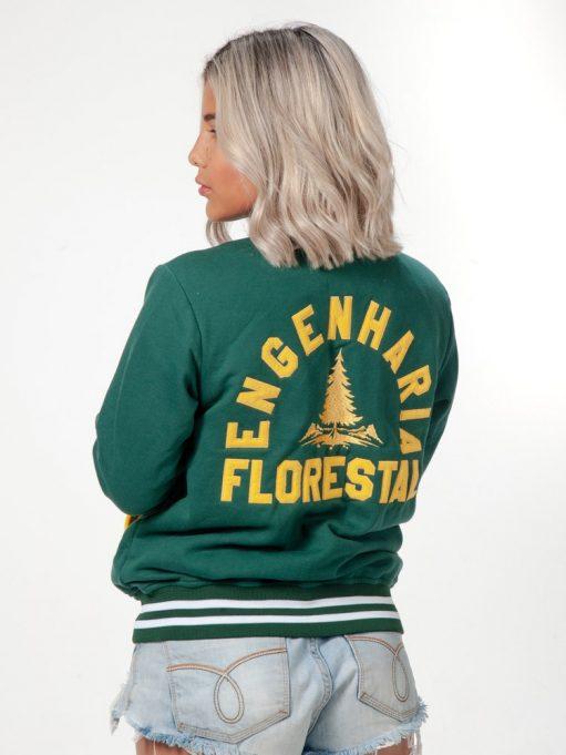 jaqueta americana de engenharia florestal verde musgo