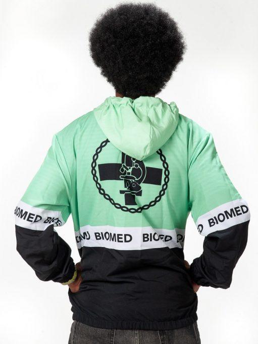 jaqueta windbreaker de biomedicina