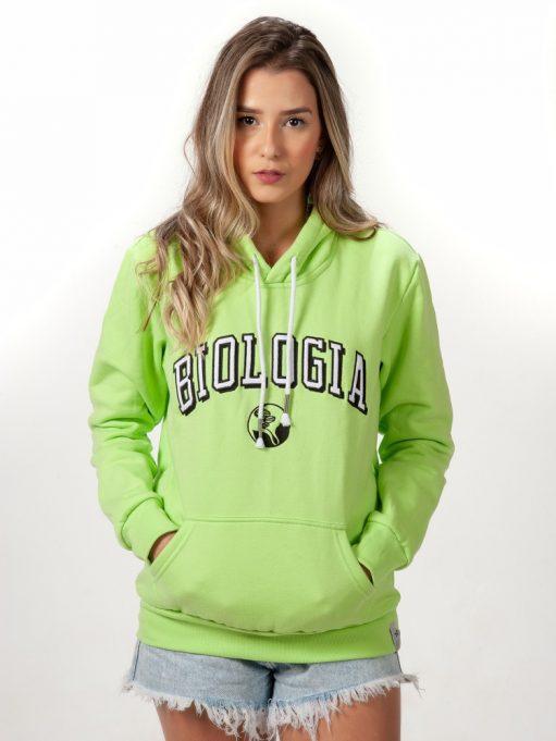 blusa de frio verde claro de biologia