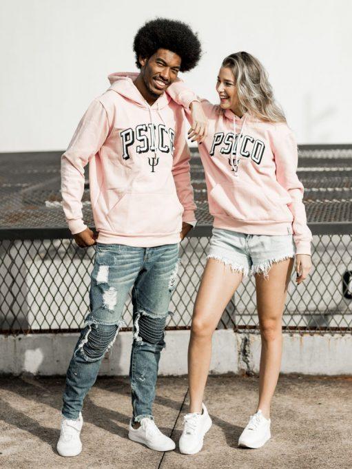 blusa de frio de psicologia rosa claro