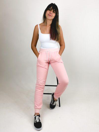 Calça de Moletom Rosa Claro (1)