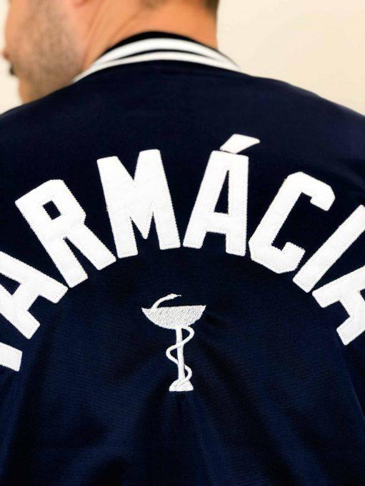 jaqueta de farmácia personalizada