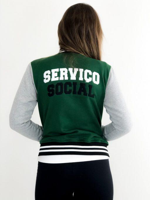 Jaqueta College de Serviço Social Verde Musgo (1)