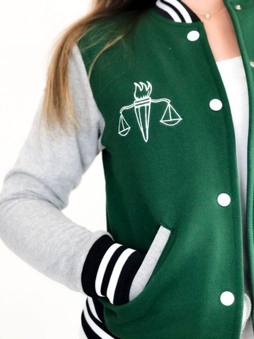 jaqueta americana do curso de serviço social