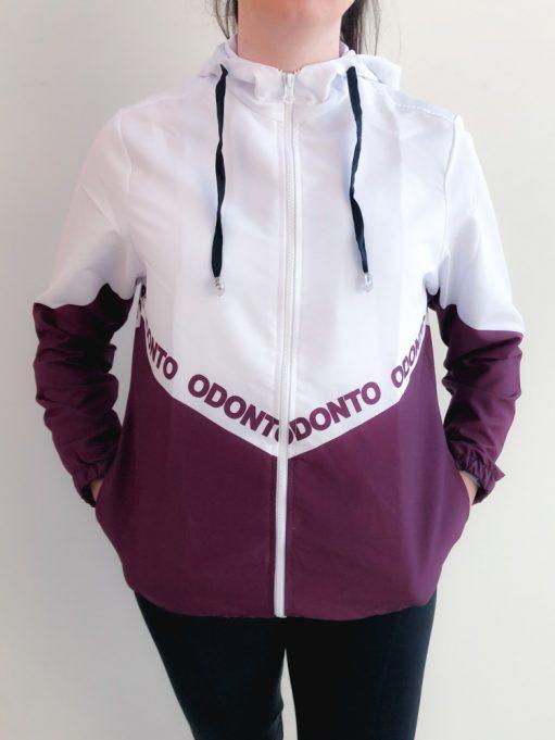 jaqueta corta vento do curso de odonto