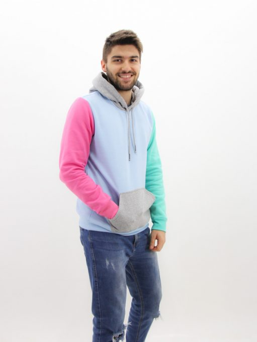 blusa de moletom color block
