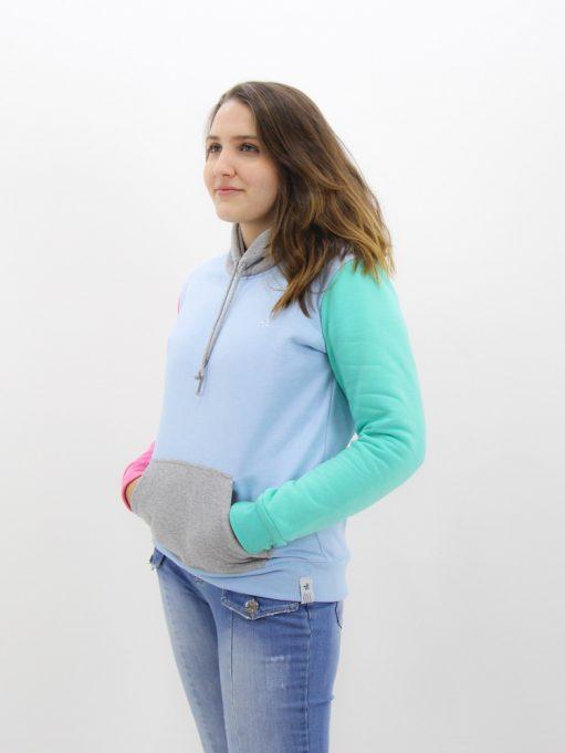 Blusa de Moletom Color Block (6)
