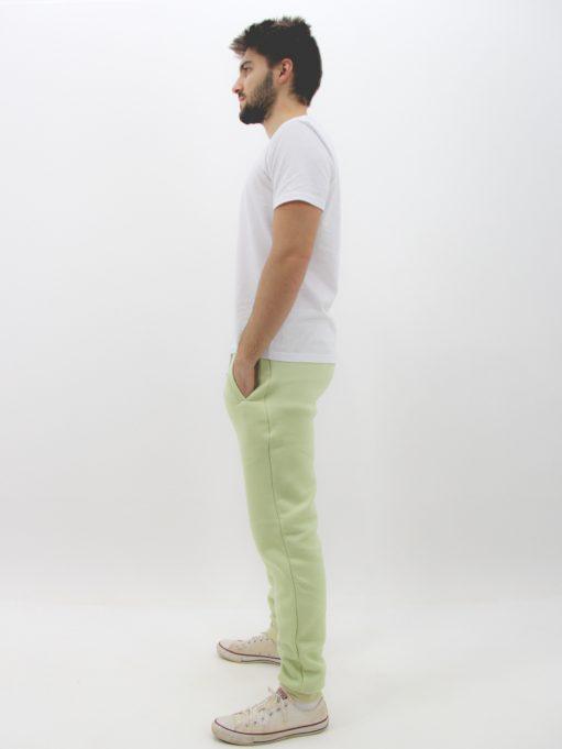 Calça de Moletom Básico Verde Menta (3)