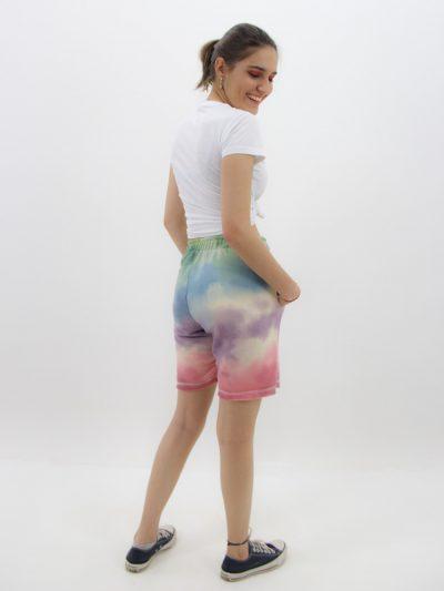 short de moletinho feminino tie dye