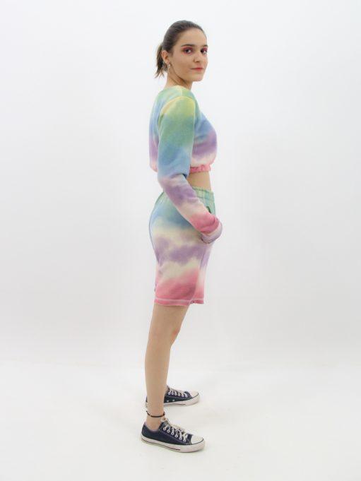 conjunto cropped tie dye