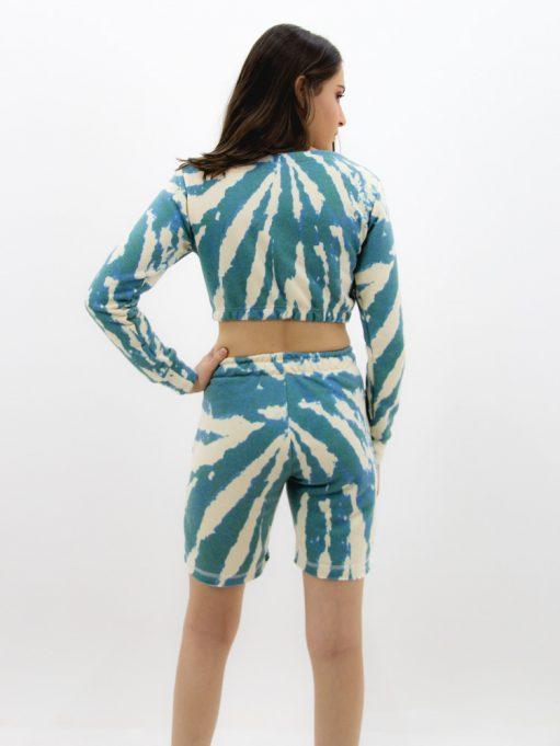Cropped de Moletinho Tradicional Tie Dye Verde Rajado (4)