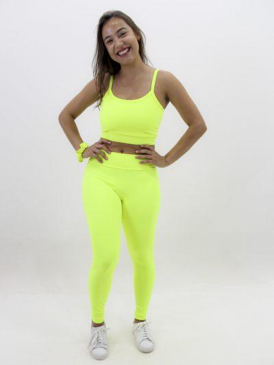 Calça Legging Amarelo Neon