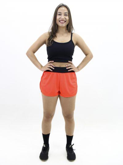 Short Runner Laranja Neon