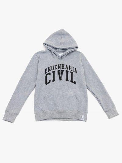 Blusão de frio cinza mescla de Engenharia Civil