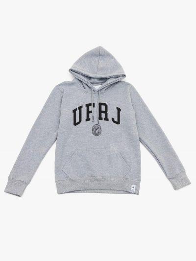 blusa de frio da UFRJ cinza