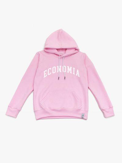 blusão de frio rosa claro de Economia