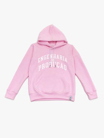 Blusão de frio rosa claro de Engenharia de Produção