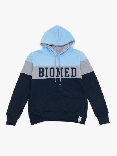 Blusa de frio Tricolor Azul Claro Cinza e Marinho de Biomedicina