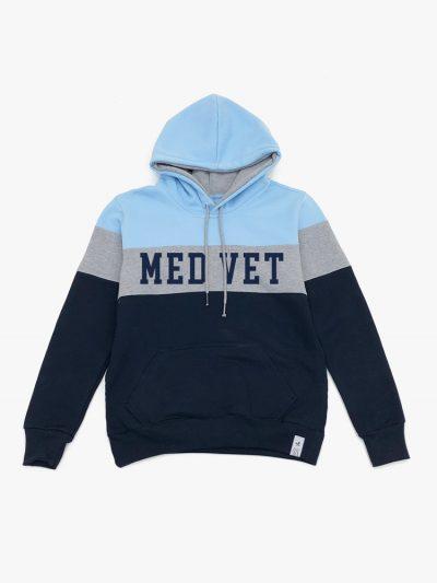 Blusão de frio Tricolor Azul Cinza e Marinho de Medicina Veterinária