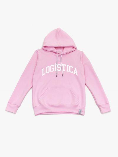 Blusão de frio rosa claro de Logística