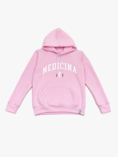 Blusão de frio rosa claro de Medicina