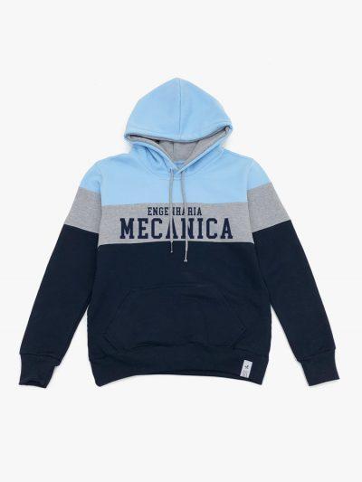 Blusão de frio Tricolor Azul Cinza e Marinho de Engenharia Mecânica
