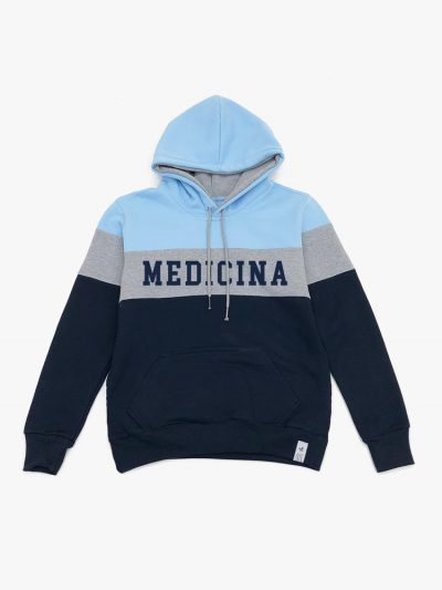 Blusão de frio Tricolor Azul Cinza e Marinho de Medicina